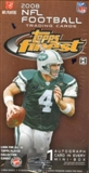 2008 Topps Finest Football Hobby Box