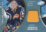 2009/10 Upper Deck Ice Fresh Threads Yellow #FTJE Jhonas Enroth