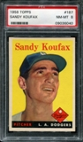 1958 Topps Baseball #187 Sandy Koufax PSA 8 (NM-MT) *6040