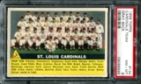 1956 Topps Baseball #134 St. Louis Cardinals Team PSA 8 (NM-MT) *8696