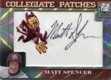 2007 Donruss Elite Extra Edition Collegiate Patches #64 Matt Spencer /249