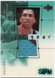 2000/01 Upper Deck Slam Flight Gear #SAG Shareef Abdur-Rahim Teal & Black