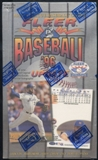 1996 Fleer Update Baseball Retail Box