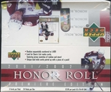 2001/02 Upper Deck Honor Roll Hockey 24-Pack Box