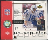 2001 Upper Deck Top Tier Football 24-Pack Box