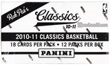 2010/11 Panini Classics Basketball Retail Rack Pack 20-Box Case