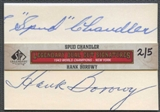 2011 SP Legendary Cuts Baseball Spud Chandler & Hank Borowy Cut Auto #2/5