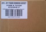 2010/11 Panini Dominion Hockey Hobby 6-Box Case