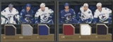 2009/10 UD Black Rivals 6 on 6 Jerseys #VANCGY Vancouver Canucks Calgary Flames 23/25