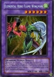 Yu-Gi-Oh Promo Single Elemental Hero Flame Wingman Secret Rare EHC1-EN004