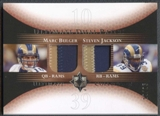 2005 Ultimate Collection Game Jersey Dual Patches Marc Bulger Steven Jackson /25
