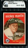 1959 Topps Baseball #10 Mickey Mantle GAI 8.5 *6842