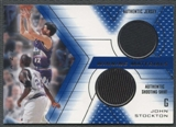 2001/02 Upper Deck SPX Basketball John Stockton Jersey Shooting Shirt