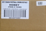 2011 Panini Crown Royale Football Hobby 12-Box Case