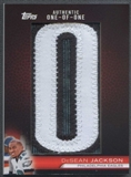 "2010 Topps Football DeSean Jackson Patch Letter """"O"""" #1/1"