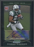 2009 Bowman Chrome Football Shonn Greene Rookie Auto