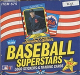 1987 Fleer Baseball Superstars Set Box