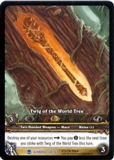 WoW Archives Single Wraith Scythe Extended Art Foil
