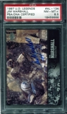 1997 Upper Deck Legends Autographs #AL134 Jim Marshall PSA 8.5 NM-MT+ *9886