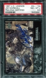 1997 Upper Deck Legends Autographs #AL134 Jim Marshall PSA 8.5 NM-MT+ *9891