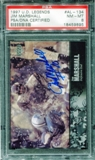 1997 Upper Deck Legends Autographs #AL134 Jim Marshall PSA 8 NM-MT *9895