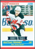 2010/11 Score #613 Mattias Tedenby RC 10 Card Lot