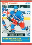 2010/11 Score #632 Ryan McDonagh RC 10 Card Lot