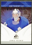 2009/10 Upper Deck SP Game Used #157 James Reimer RC /699