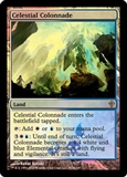 Magic the Gathering Promo Single Celestial Colonnade Foil (Worldwake Buy a Box) (MP)