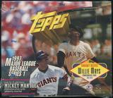1997 Topps Series 1 Baseball Retail 20 Pack Box