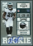 2010 Playoff Contenders #174 Nate Allen Rookie Autograph