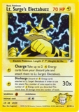 Pokemon Gym Heroes Single Lt. Surge's Electabuzz 6/132