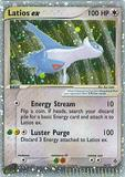 Pokemon Dragon Single Latios ex 94/97