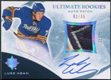 2010/11 Ultimate Collection Rookie Patch Autographs #126 Luke Adam 1/35