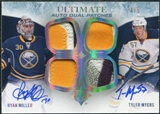 2010/11 Ultimate Collection Patches Duos Autographs #ADJMM Ryan Miller Tyler Myers 4/5