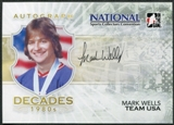 2010-11 ITG Decades The 80's National Edition Autographs #AMW Mark Wells 5x7