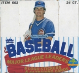 1986 Fleer Baseball Major League Leaders Set Box