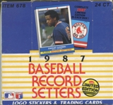 1987 Fleer Record Setters Baseball Factory Set Box