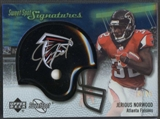2007 Upper Deck Sweet Spot Football Jerious Norwood Helmet Auto #10/25
