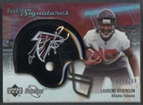 2007 Upper Deck Sweet Spot Football Laurent Robinson RC Helmet Auto #527/799