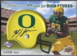 2010 Upper Deck Sweet Spot Football Ed Dickson Rookie Helmet Auto #134/350