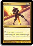 Magic the Gathering Promo Single Vindicate FOIL (Judge)