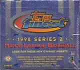 1998 Topps Finest Series 2 Baseball Hobby Box