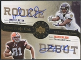 2006 Rookie Debut Football Mark Clayton & Travis Wilson Rookie Auto