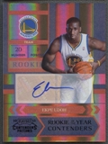 2010/11 Playoff Contenders Patches #9 Ekpe Udoh Rookie of the Year Contenders Black Auto #5/10