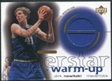 2001/02 Upper Deck Ovation Superstar Warm-Ups #DN Dirk Nowitzki