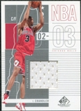 2002/03 Upper Deck SP Game Used #13 Tyson Chandler Jersey