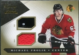 2010/11 Panini Luxury Suite Jerseys Sticks Gold #30 Michael Frolik /10