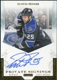 2010/11 Panini Luxury Suite Private Signings #DP Dustin Penner Autograph