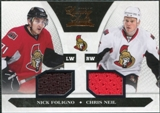 2010/11 Panini Luxury Suite #90 Nick Foligno Chris Neil Dual Jersey /599